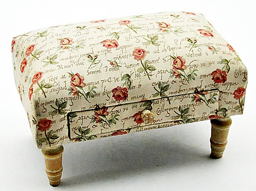 Roses Design Footstool With Drawer Shipping furniture UK