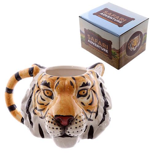 Novelty Tiger Head Shaped Ceramic Mug Novelty Gift