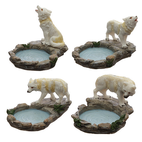 Wolf Tea Light Candle Holder [ONE ONLY] Novelty Gift