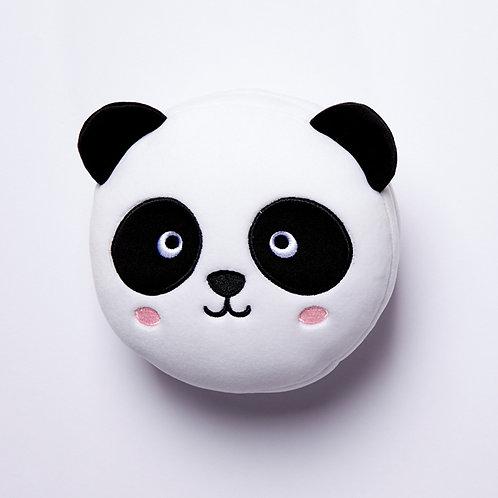 Cutiemals Panda Plush Round Travel Pillow & Eye Mask Set Novelty Gift