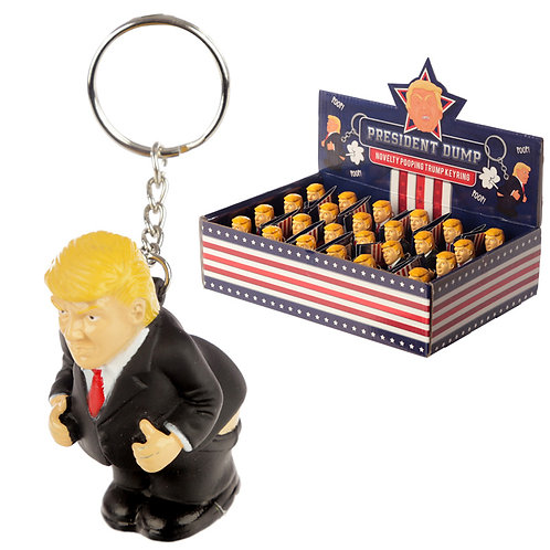 Fun Squeezy President Keyring Novelty Gift