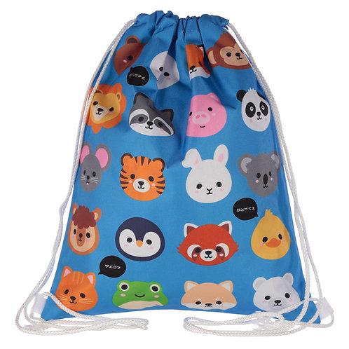 Handy Drawstring Bag - Fun Cute Animals Design Novelty Gift
