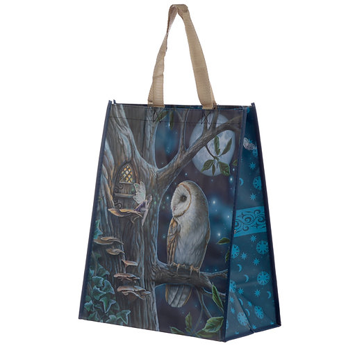 Fairy Tales Owl and Fairy Lisa Parker Reusable Shopping Bag Novelty Gift