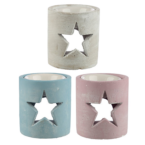 Concrete Christmas Star Oil Burner Novelty Gift