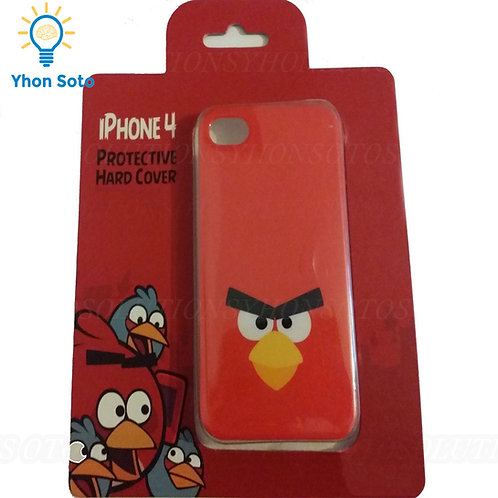 Angry Birds Red Iphone 4 Protective Hard Cover Smooth Touch Scratch Resistant