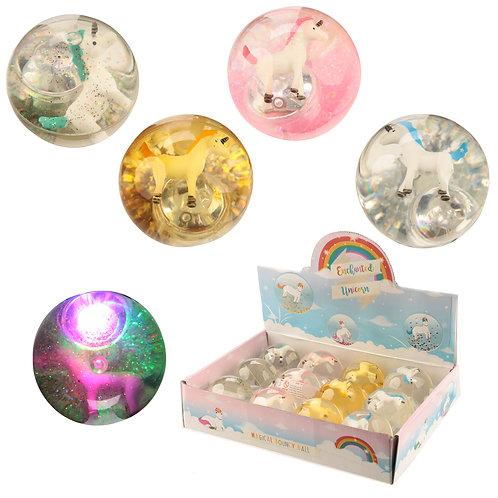 Fun Kids Flashing Bouncy Unicorn Ball Novelty Gift