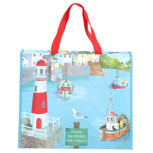 Fun Seaside Design Durable Reusable Shopping Bag Novelty Gift