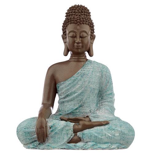 Decorative Turquoise & Brown Buddha Figurine - Love Novelty Gift