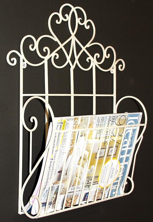 Cream Scroll Wall Hanging Magazine Rack Shipping furniture UK
