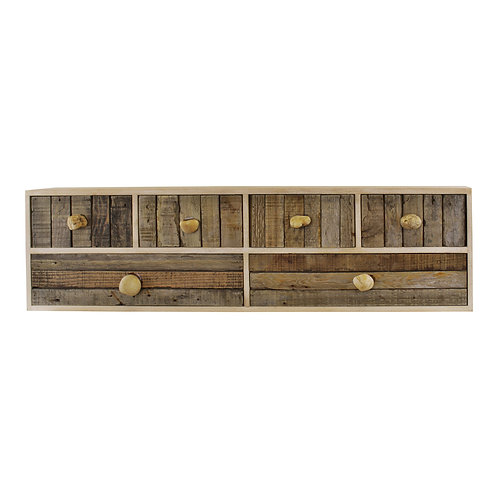 6 Drawer Unit With Pebble Handles, Freestand or Wall Mount Shipping furniture UK