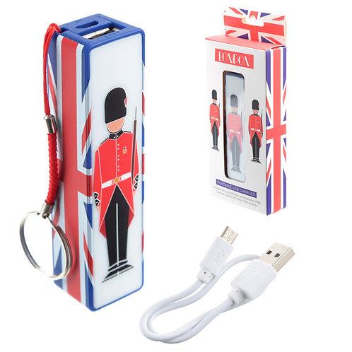 Handy Portable USB Power Bank - London Guardsman Design Novelty Gift