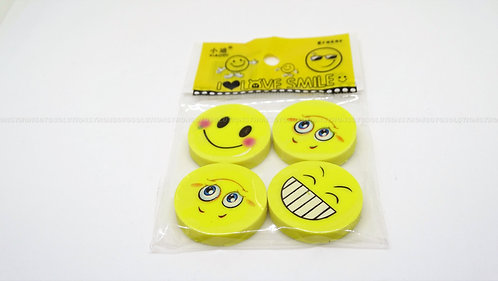 School Accessories Smiley Rubber Faces(Qty:4)