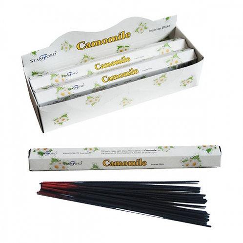 Camomile Stamford Hex Incense Sticks Novelty Gift