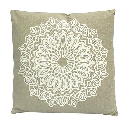 Mandala Cushion - Stone Shipping furniture UK