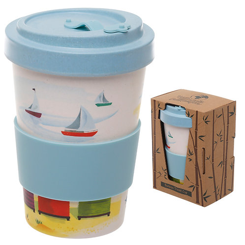 Bamboo Composite Beach Screw Top Travel Mug Novelty Gift