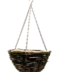 12 inch Round Black  Hanging Basket   Florist Sundries Supplies and Events UK
