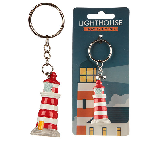 Novelty Collectable Lighthouse Keyring Novelty Gift