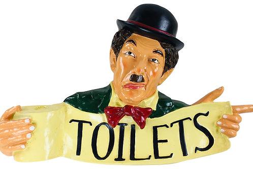 Resin Chaplin Toilet Sign 70cm Shipping furniture UK