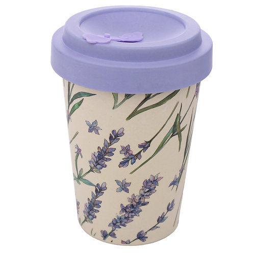 Bamboo Composite Lavender Fields Screw Top Travel Mug Novelty Gift