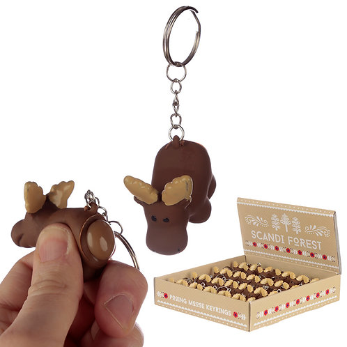 Fun Collectable Pooping Moose Keyring Novelty Gift