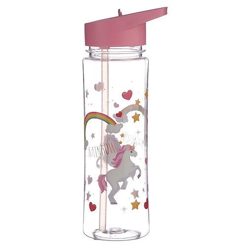 Reusable Unicorn Rainbow 550ml Bottle Novelty Gift
