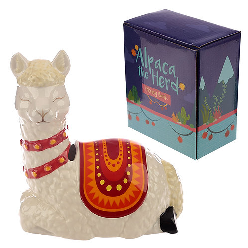 Collectable Ceramic Alpaca Shaped Money Box Novelty Gift