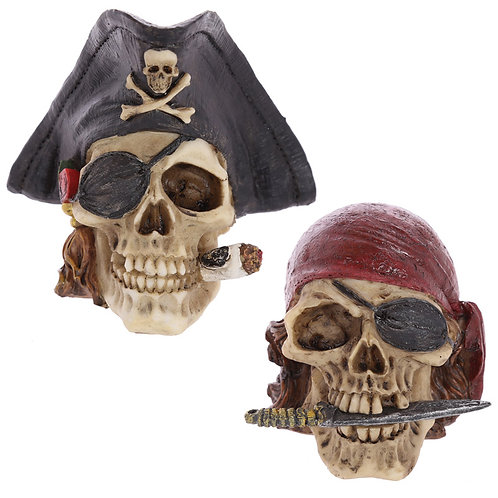Gothic Pirate Skull Decoration Novelty Gift