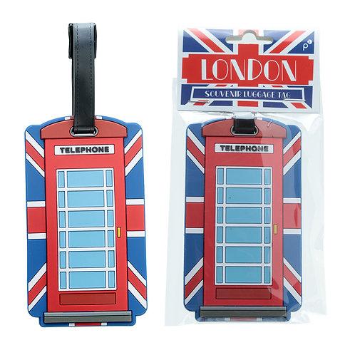 Fun Novelty Union Flag Telephone Box Luggage Tag Novelty Gift