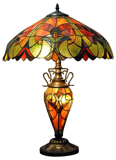 Red & Orange Double Tiffany Lamp 68cm Shipping furniture UK