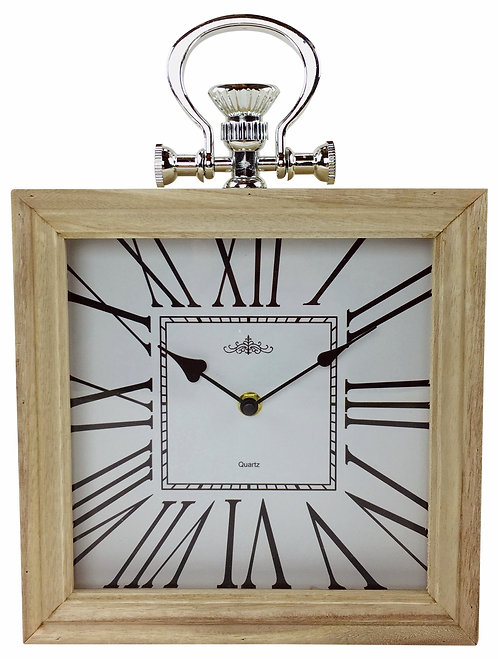 Square Wooden Roman Numeral Clock 24cm Shipping furniture UK