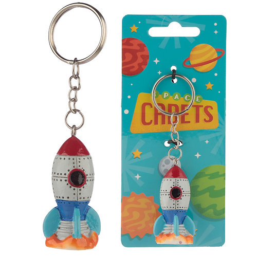 Collectable Space Rocket Keyring Novelty Gift