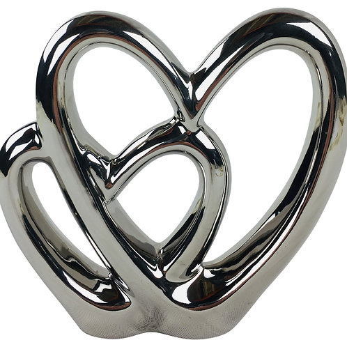 Double Heart Ornament 21cm Shipping furniture UK