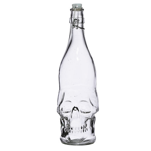 Skull Shaped Water Bottle 1L - Skulls & Roses Novelty Gift