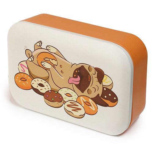 Bamboo Composite Mopps Pug Lunch Box Novelty Gift