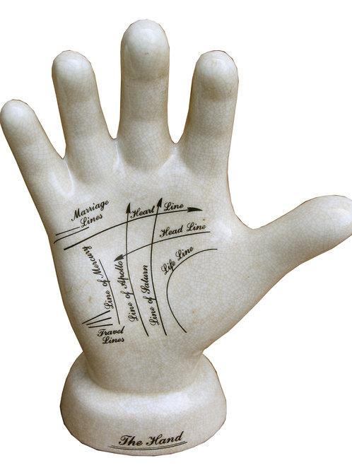 Ceramic Palmistry Hand, 24cm Shipping furniture UK
