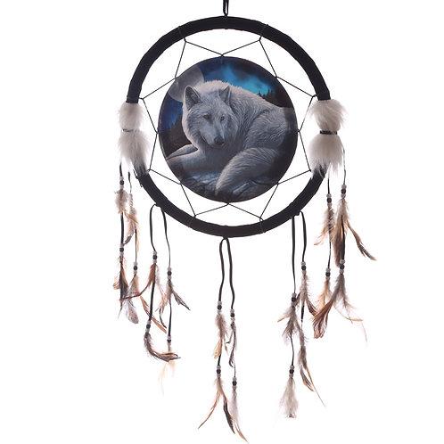Decorative Guardian Wolf 33cm Dreamcatcher Novelty Gift