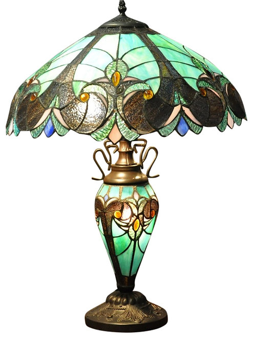 Turquoise Blue Double Tiffany Lamp 68cm Shipping furniture UK