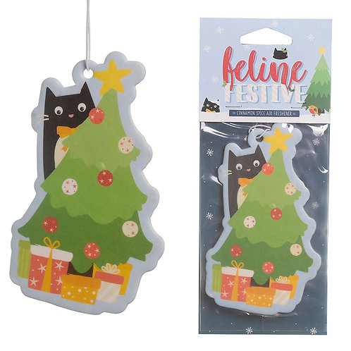 Nutmeg Scented Christmas Cat Festive Feline Air Freshener Novelty Gift [2]