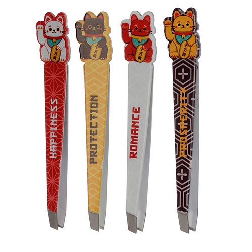 Fun Lucky Cat Maneki Neko Tweezers (Only  Available Sorted) Novelty Gift