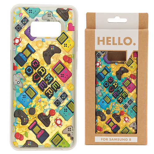 Samsung 8 Phone Case - Gaming Icons Design Novelty Gift