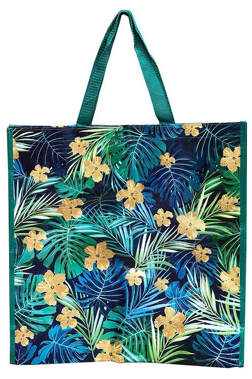 Tropical Leaf Shopper Bag - Green Shipping furniture UK