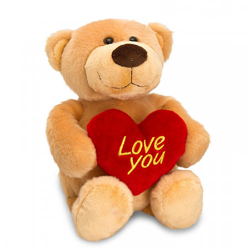 25cm Brown Bear with Heart Novelty Gift
