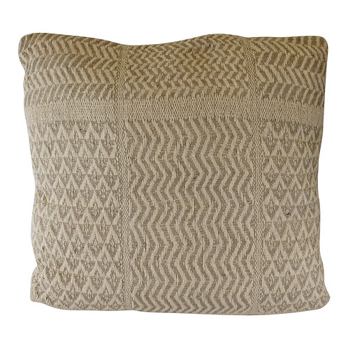 Aztec Patterned Cushion, Grey & Natural, 45cm. Shipping furniture UK