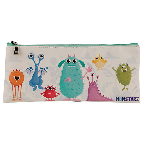 Fun Novelty Pencil Case - Monsters Design Novelty Gift [Pack of 2]