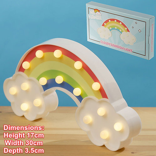 NoveltyChildren Battery LED Rainbow and Clouds Wall Light Decoration