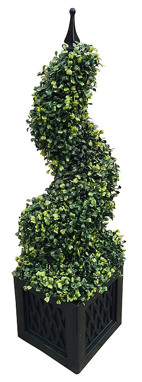 Artificial 80cm Boxwood Spiral Tower Shipping furniture UK