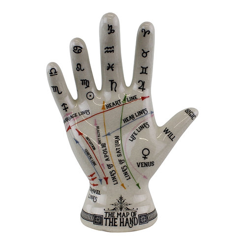 Ceramic Crackle Phrenology Hand Shipping furniture UK