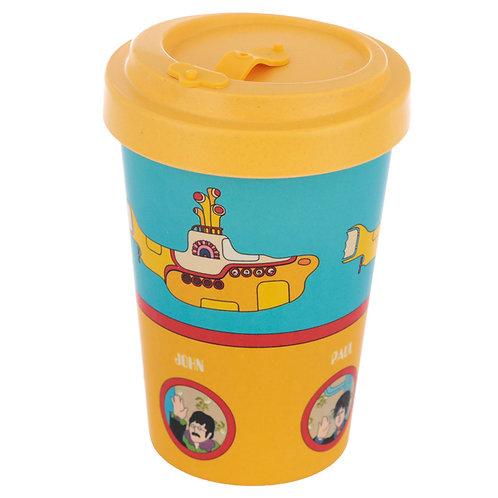 Bamboo Yellow Submarine Blue and Yellow Screw Top Travel Mug Novelty Gift
