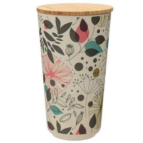 Large Bamboo Composite Storage Jar Wisewood Botanical Novelty Gift