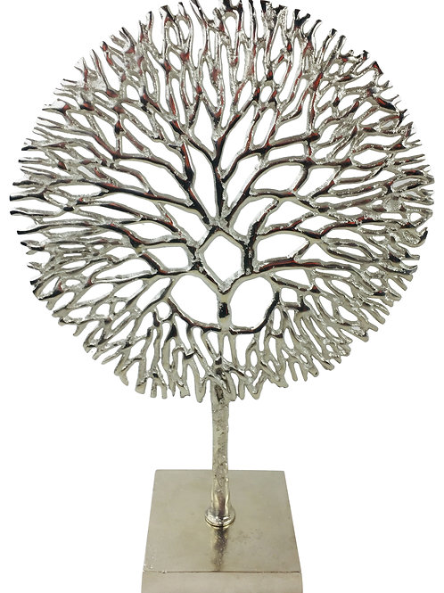 Silver Coral Sculpture Shipping furniture UK